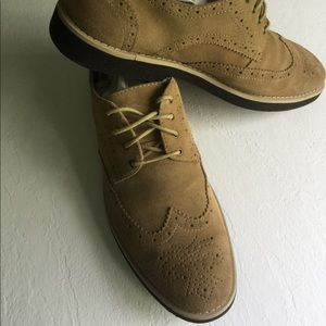 Marc Anthony suede tan Oxford shoes size 14